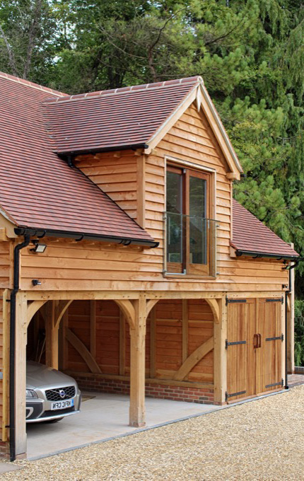 Oak Garages With Room Above Outbuildings