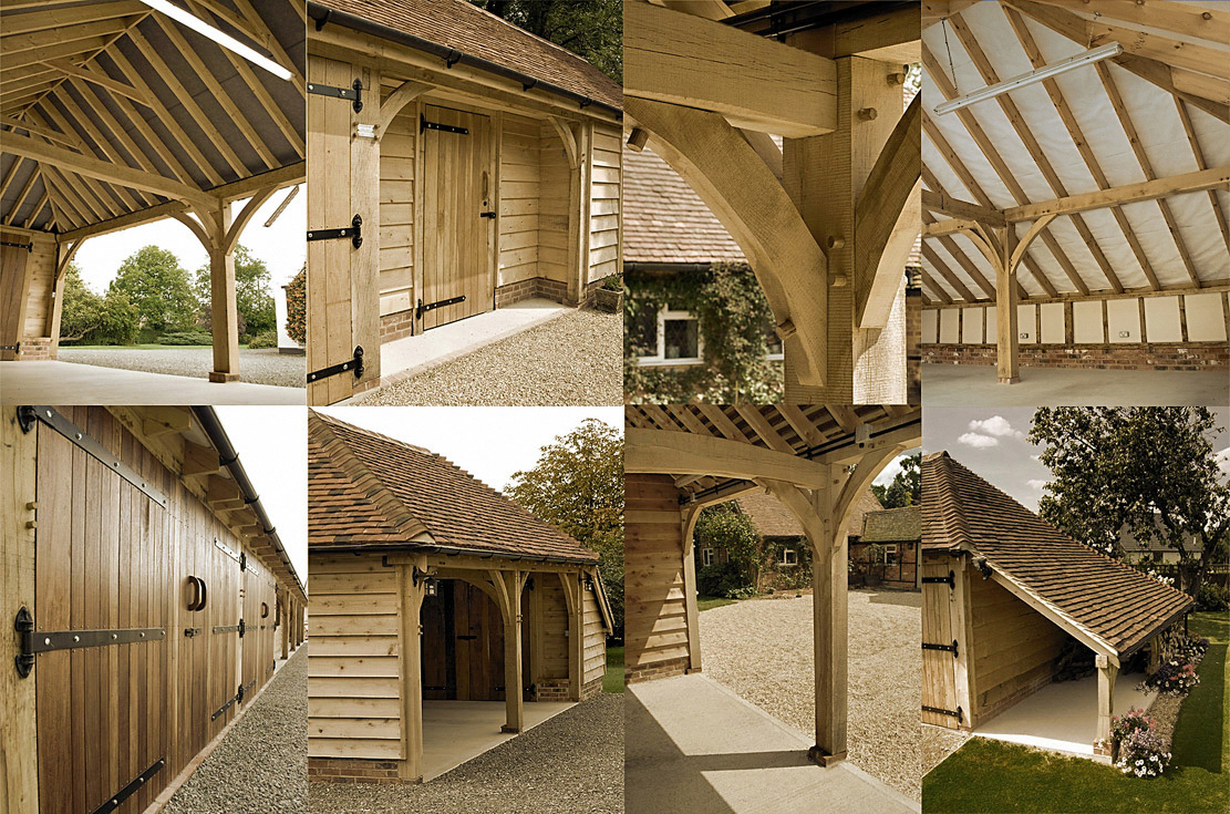 Oak Framed Garages By The Classic Barn Company