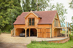 Oak Garages With Room Above Accommodation