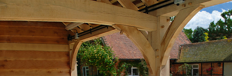 Our crafted centre oak tie beam