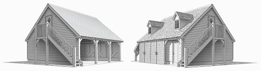 Hideaway oak barn