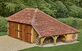 Hampshire oak garage