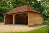 A two bay oak garage in Guildford, Surrey
