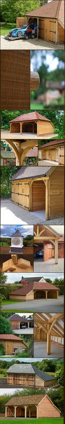 Series of oak barns and garages