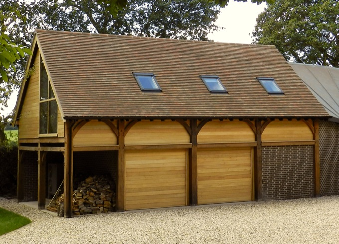 oak frame barn in berkshire