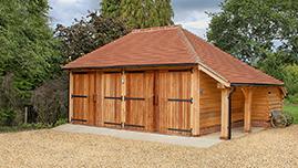 Oak Framed Garage Barn Building in Hampshire