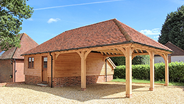 Oak Framed Garage Car Port in Oxfordshire