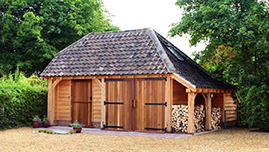 Oak Garage Barn Building In Berkshire