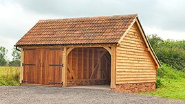 Timber Framed Oak Barn Building in Worcestershire