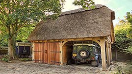 Oak Framed Garage Barn Building in Surrey