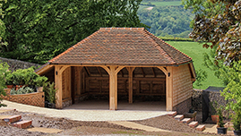 Two Car Oak Garage Building in Sussex