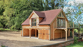 Oak Framed Garage Barn Building In Hampshire