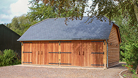 Oak Framed Garage Outbuilding In Warwickshire